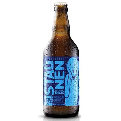 Cerveja artesanal Weiss 500ml Staunen Bier garrafa não retornável UN