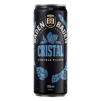 Cerveja Cristal 350ml Baden Baden lata UN