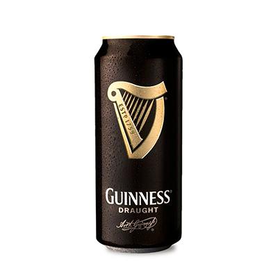 Cerveja Draught Stout 440ml Guinness lata UN