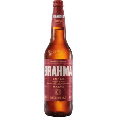 Cerveja Duplo Malte 600ml Brahma garrafa não retornável UN