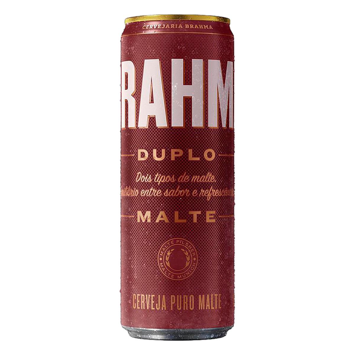Cerveja Duplo Malte 350ml Brahma lata UN