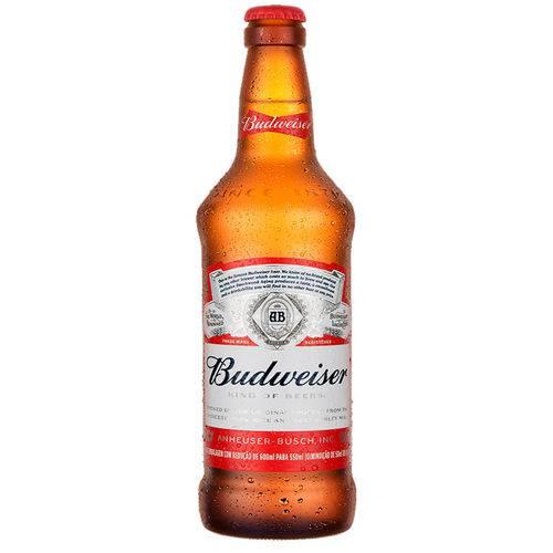 Cerveja  550ml Budweiser garrafa não retornável UN