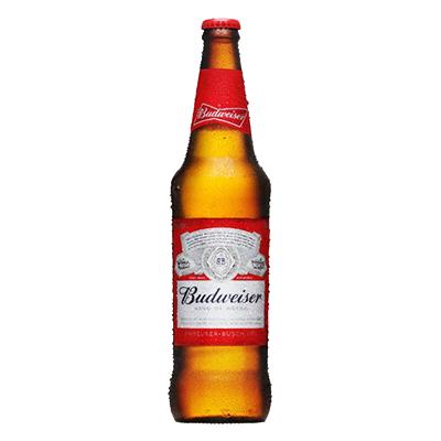Cerveja  600ml Budweiser garrafa não retornável UN