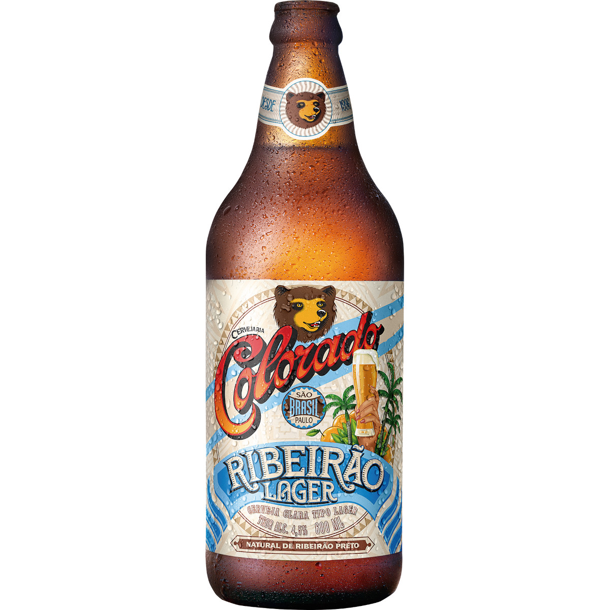 Cerveja Lager 600ml Colorado garrafa não retornável UN