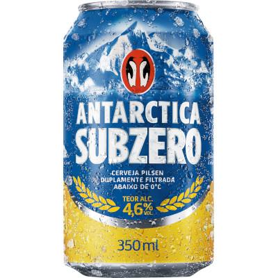 Cerveja  350ml Antarctica Subzero lata UN