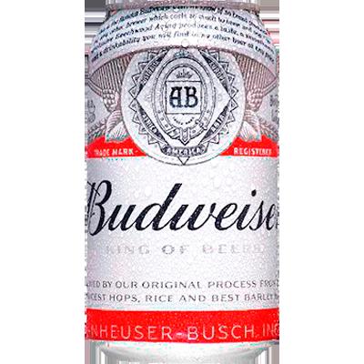 Cerveja  350ml Budweiser lata UN