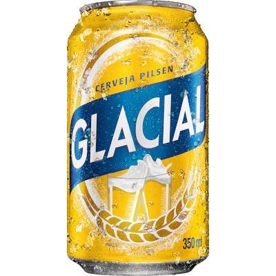 Cerveja  350ml Glacial lata UN