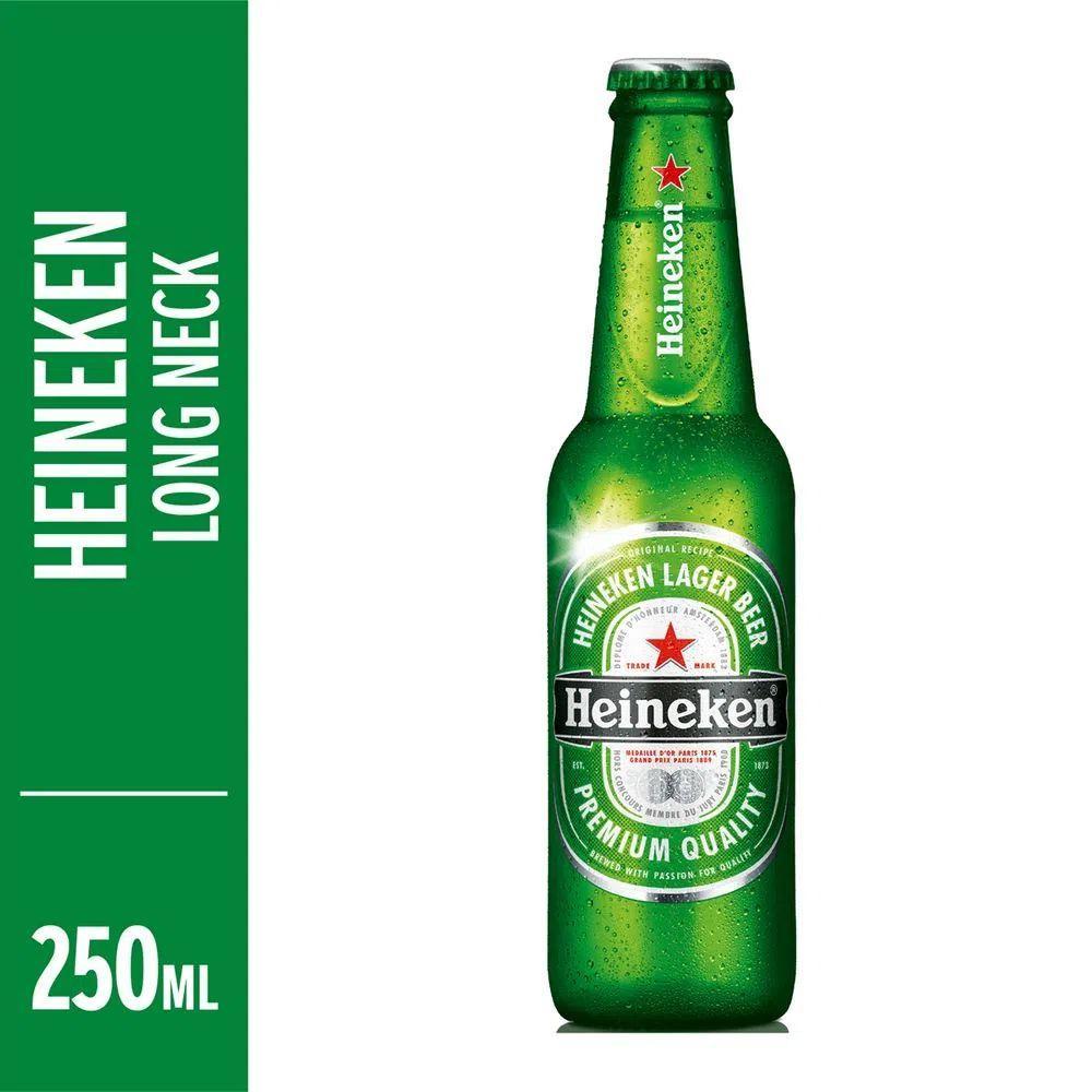 Cerveja  250ml Heineken long neck UN