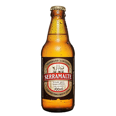 Cerveja Puro Malte 300ml Serramalte garrafa UN