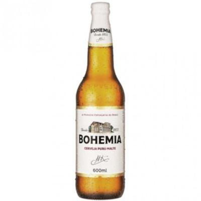 Cerveja Puro Malte 600ml Bohemia garrafa não retornável UN