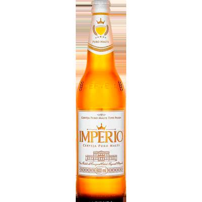 Cerveja Puro Malte 600ml Império garrafa não retornável UN