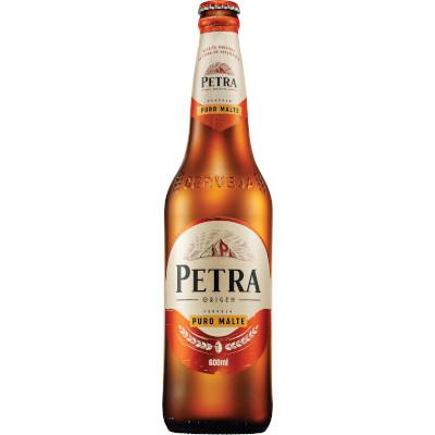Cerveja Puro Malte 600ml Petra garrafa não retornável UN