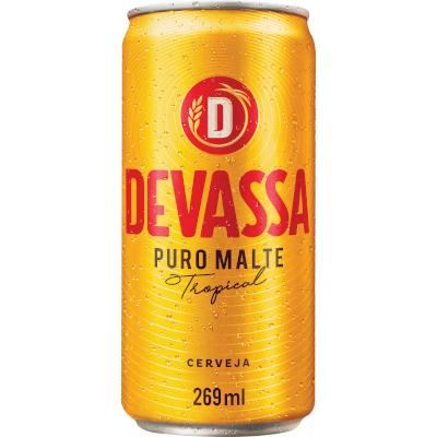 Cerveja Puro Malte 269ml Devassa lata UN
