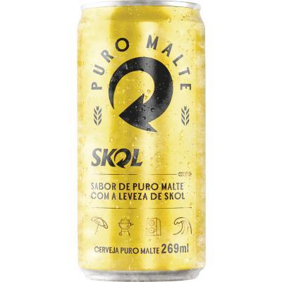 Cerveja Puro Malte 269ml Skol lata UN
