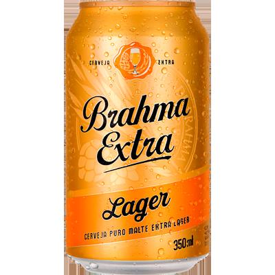 Cerveja Puro Malte 350ml Brahma Extra lata UN