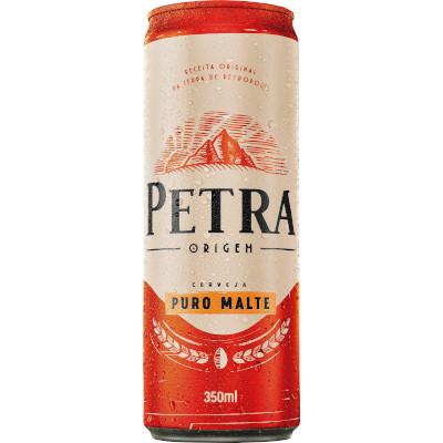 Cerveja Puro Malte 350ml Petra lata UN