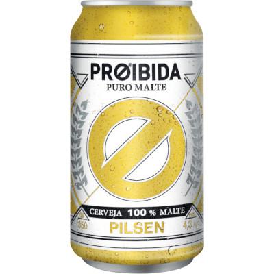 Cerveja Puro Malte 350ml Proibida lata UN