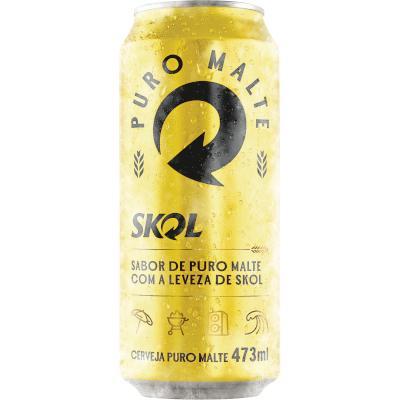 Cerveja Puro Malte 473ml Skol lata UN