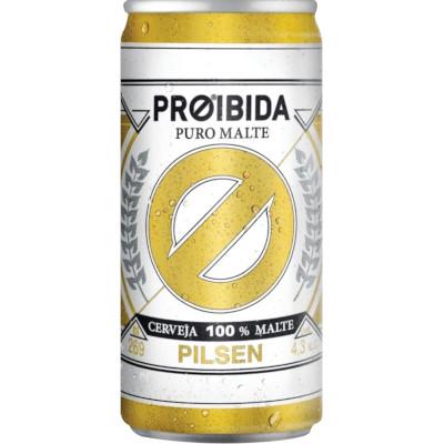 Cerveja Puro Malte Pilsen 269ml Proibida lata UN