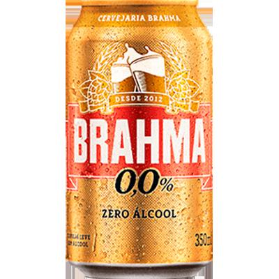 Cerveja Zero álcool 350ml Brahma lata UN