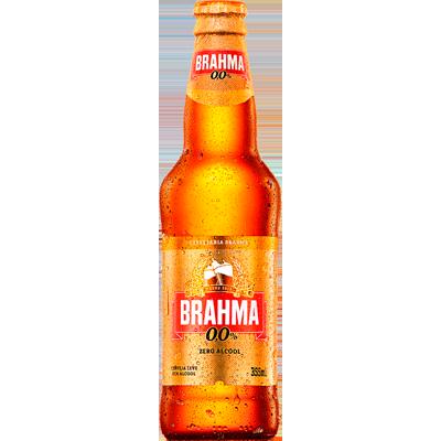 Cerveja Zero álcool 355ml Brahma long neck UN