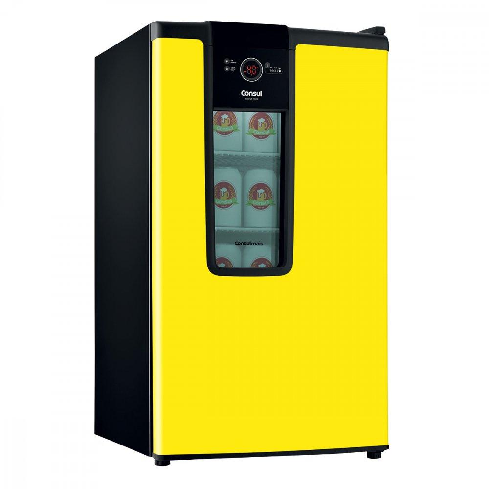 Cervejeira 1 Porta Frost Free Amarela 110v 82 Litros Consul  UN