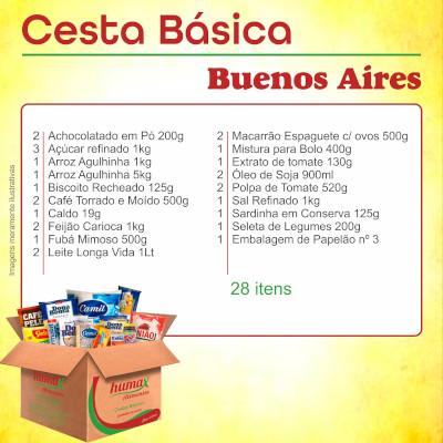 Cesta Básica Buenos Aires 27 itens Humax Alimentos caixa CX