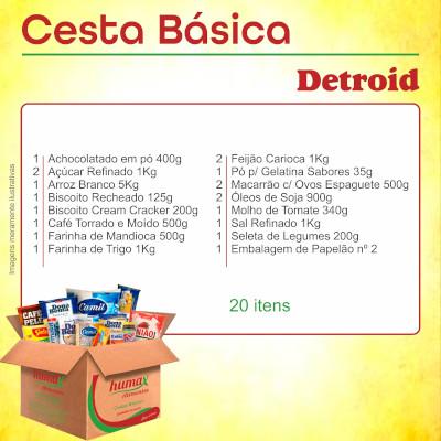 Cesta Básica Detroit 20 itens Humax Alimentos caixa CX