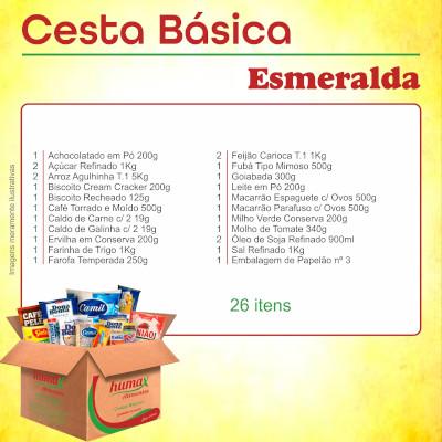 Cesta Básica Esmeralda 26 itens Humax Alimentos caixa CX