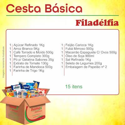 Cesta Básica Filadelfia 15 itens Humax Alimentos caixa CX