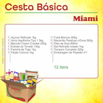Cesta Básica Miami 12 itens Humax Alimentos caixa CX