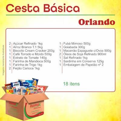 Cesta Básica Orlando 18 itens Humax Alimentos caixa CX