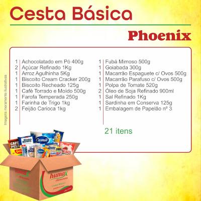 Cesta Básica Phoenix 21 itens Humax Alimentos caixa CX