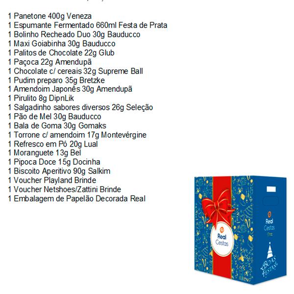 Cesta de Natal Alegria 21 itens Real Cestas caixa UN
