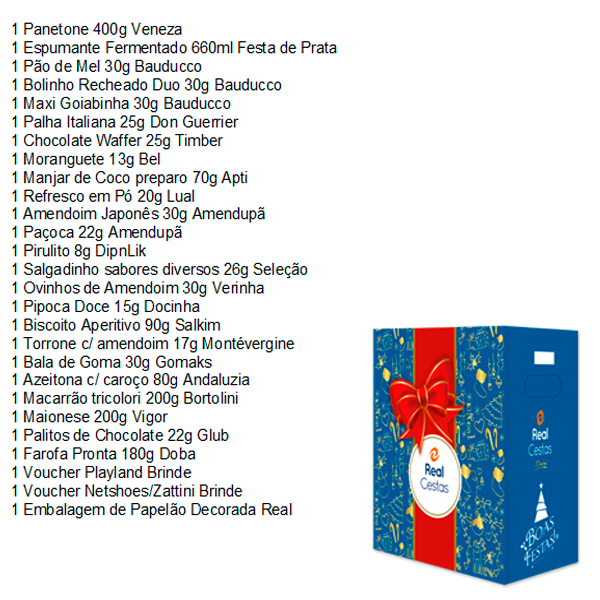 Cesta de Natal Amor 25 itens Caue Cestas caixa UN