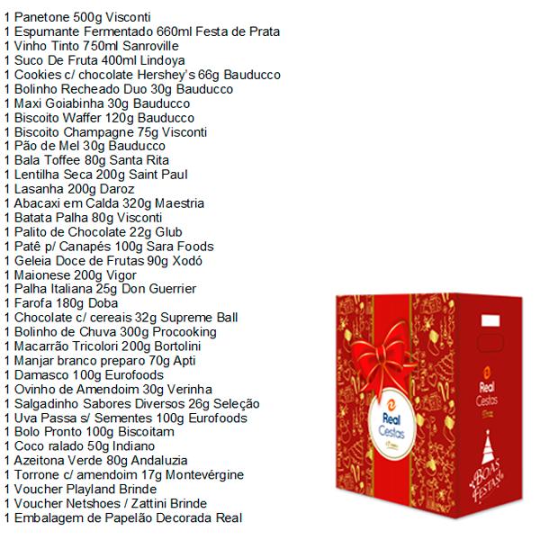 Cesta de Natal Lealdade 36 itens Real Cestas caixa UN