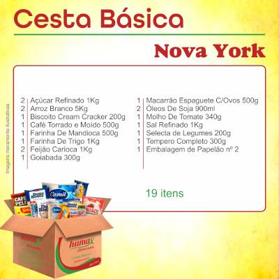Cesta de Natal Nova York 19 itens Humax Alimentos caixa CX