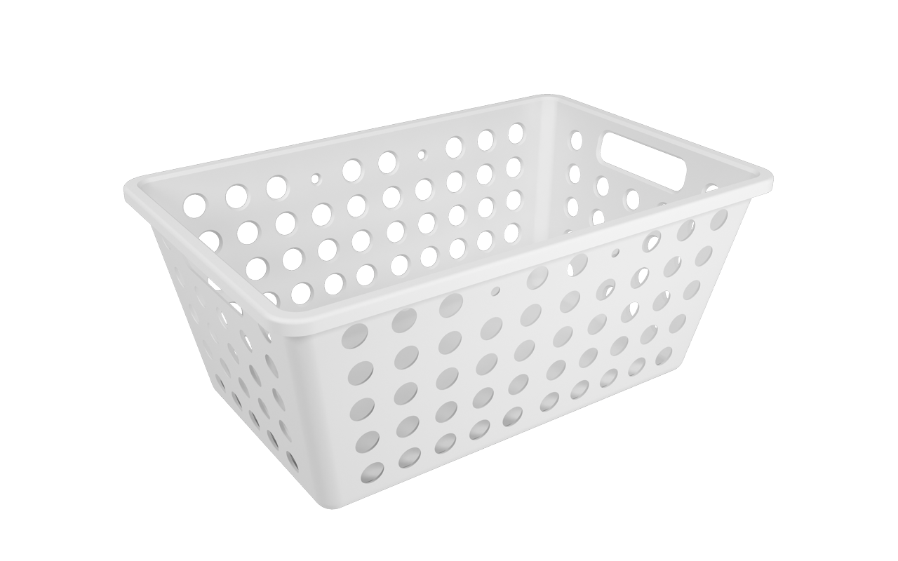 Cesta One Grande Branco Polipropileno (PP) 28,8 x 19,1 x 12,3 cm  Coza  UN