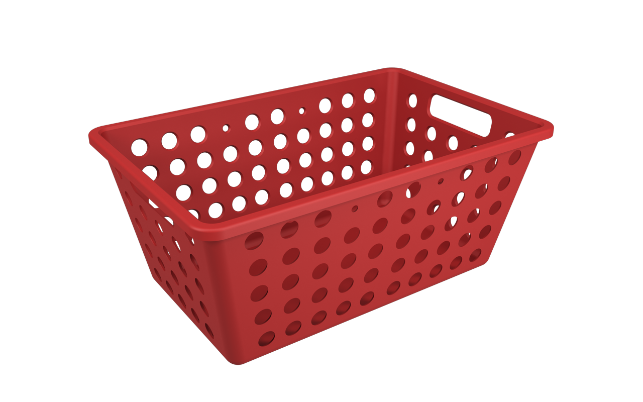Cesta One Grande Vermelho Bold Polipropileno (PP) 28,8 x 19,1 x 12,3 cm  Coza  UN