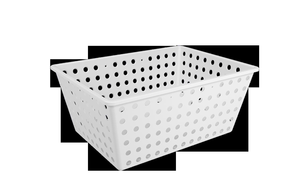 Cesta One Maxi Branco Polipropileno (PP) 39 x 30 x 16,8 cm Coza  UN