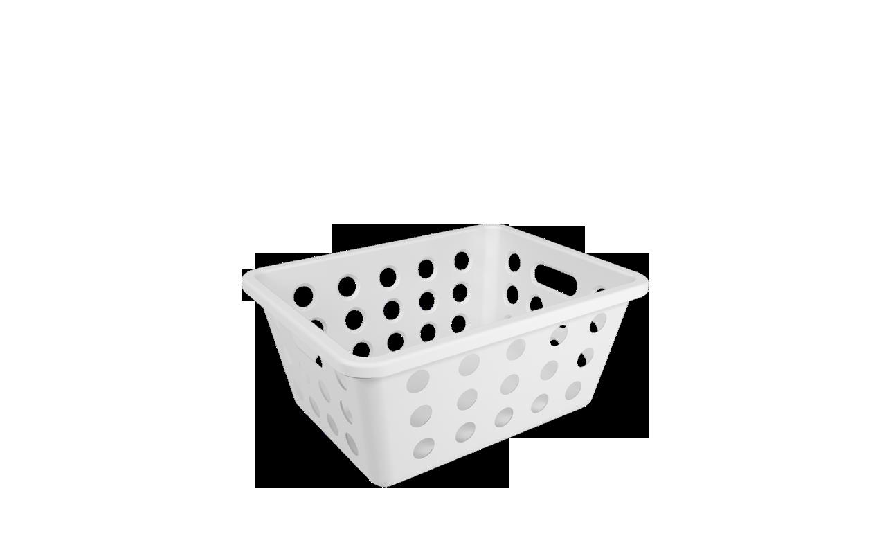 Cesta One Pequena Branco Polipropileno (PP) 18,6x14,2x8,2 cm Coza  UN