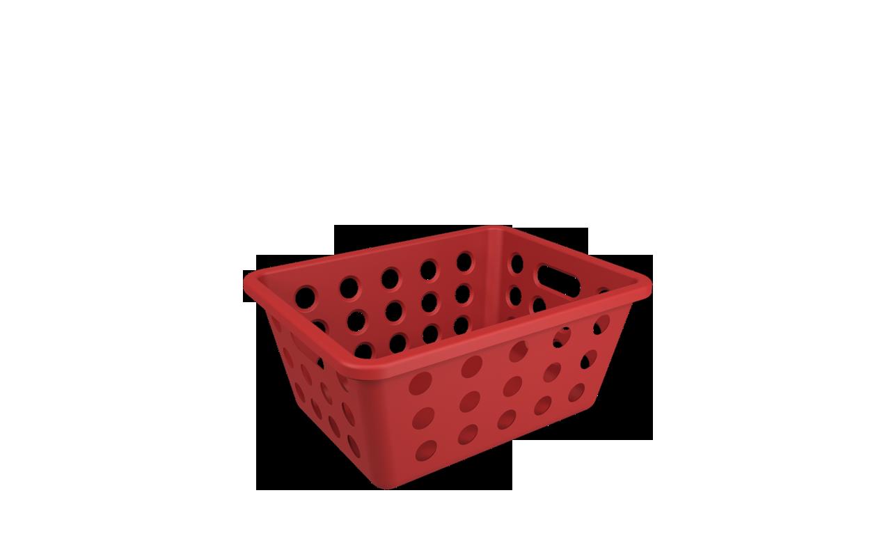 Cesta One Pequena Vermelho Bold Polipropileno (PP) 18,6x14,2x8,2 cm Coza  UN
