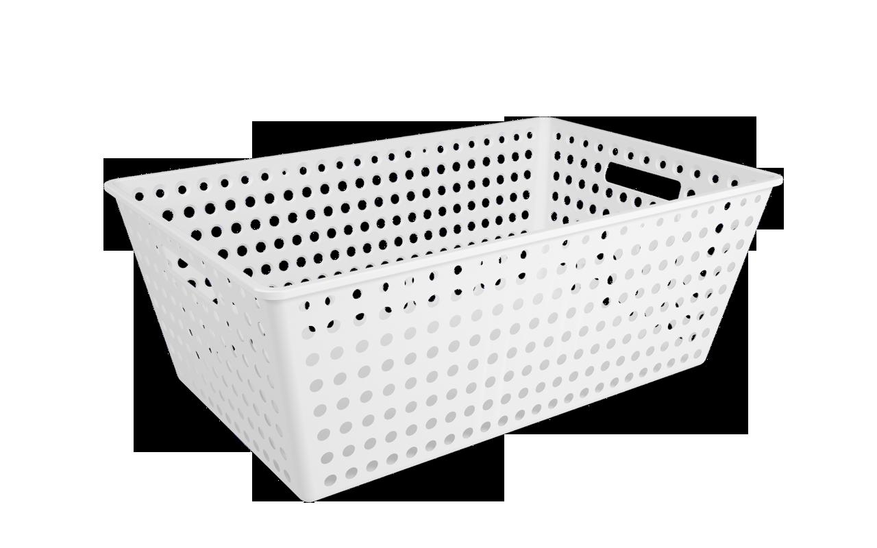 Cestão One Branco Polipropileno (PP) 59,5 x 38,8 x 22,3 cm Coza  UN