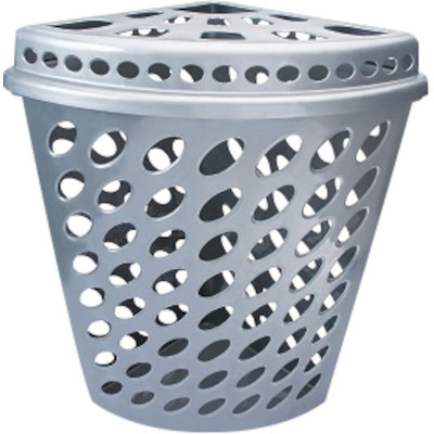 Cesto de lixo plástico telado capacidade 43 litros unidade Plasnew  UN