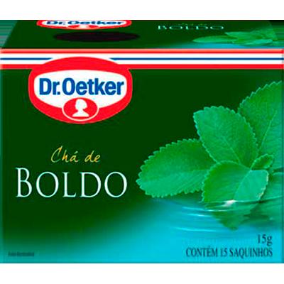 Chá de boldo 15 envelopes Dr. Oetker caixa CX