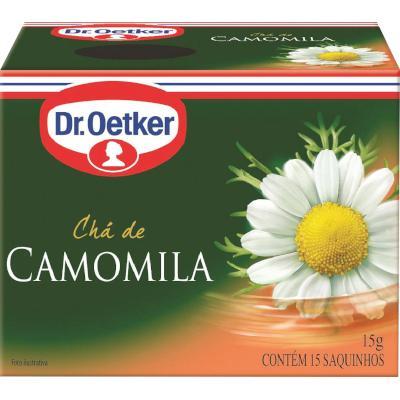 Chá de camomila 15 envelopes Dr. Oetker caixa CX
