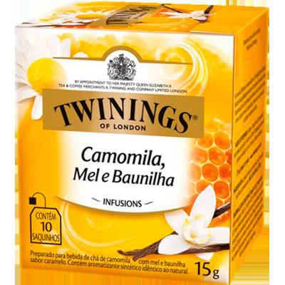 Chá de camomila, mel e baunilha 10 envelopes Twinings caixa CX