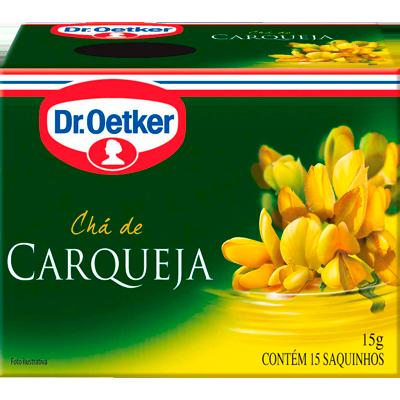 Chá de carqueja 15 envelopes Dr. Oetker caixa CX