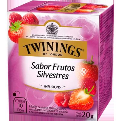 Chá de frutas silvestres 10 envelopes Twinings caixa CX