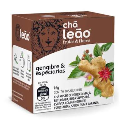Chá de Gengibre e Especiarias 16g (10 sachês) Leão caixa CX